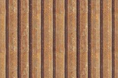 Rostigt metallstaket, sömlös bakgrund rostig textur för metall Järn gammalt industriellt för zinkyttersidarost smutsar ner den sö Royaltyfri Bild