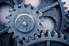 Rostigt och metalliskt kugghjulhjul Royaltyfri Fotografi