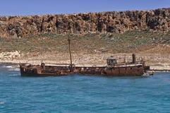 Rostigt skeppsbrott Royaltyfria Bilder
