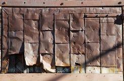rostigt stål för dörr Arkivbild