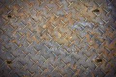 rostigt stål för gammal platta Arkivbild