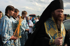 Rostislav - Archbishop of Tomsk and Asino. Russia. Tomsk. Rostislav - Archbishop of Tomsk and Asino. Orthodox procession from the city of Tomsk, passes through Royalty Free Stock Photo