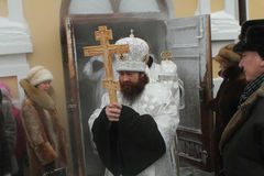 Rostislav and orthodox procession royalty free stock images