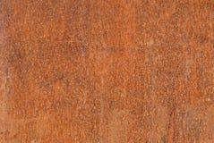 Rostmodell - abstrakt textur av en rostig yttersida på en järn-/metallplatta Arkivfoton