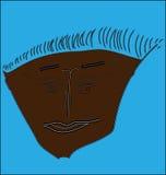 Rosto humano, executado na técnica do grattage Ilustração do Vetor