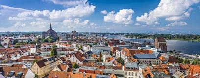 Rostock, Germany. Town skyline Stock Image