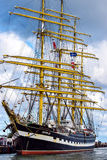 Rostock, Germany - August 22, 2016: Four-masted barque Kruzenshtern. Royalty Free Stock Photography