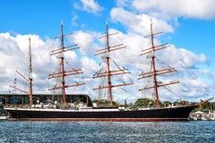 Rostock, Germany - August 22, 2016: Four-master sailingship Sedov Royalty Free Stock Photography