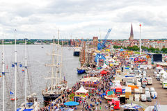Rostock, Germany - August 2016: Hanse Sail markt Stock Photography
