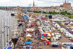 Rostock, Germany - August 2016: Hanse Sail markt Royalty Free Stock Photos