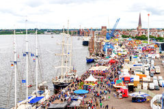 Rostock, Germany - August 2016: Hanse Sail markt Royalty Free Stock Photography