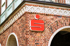 Rostock, Germany - August 22, 2016: OSPA Sparkasse Stock Images