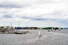 Rostock, Germany - August 2016: sailing ship on Hanse Sail. Rostock, Germany - August 2016: lots of sailing ship on Hanse Sail. Aerial photography Stock Photography