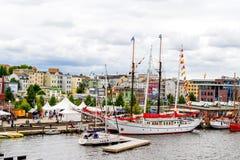 Rostock, Germany - August 2016: sailing ship on Hanse Sail Stock Image