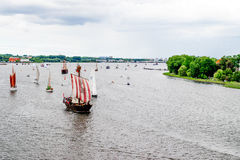 Rostock, Germany - August 2016: sailing ship on Hanse Sail Royalty Free Stock Photography