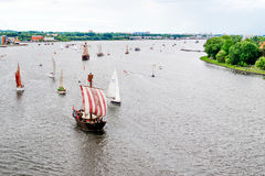 Rostock, Germany - August 2016: sailing ship on Hanse Sail Stock Images
