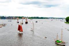 Rostock, Germany - August 2016: sailing ship on Hanse Sail Stock Photos