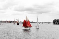 Rostock, Germany - August 2016: sailing ship on Hanse Sail Royalty Free Stock Photos