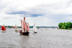 Rostock, Germany - August 2016: sailing ship on Hanse Sail Royalty Free Stock Photo