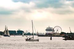 Rostock, Germany - August 2016: Sailing ships on Hanse-Sail Warnemuende. Stock Photos