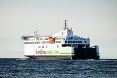 Rostock, Germany - August 19, 2016: Scandlines hybrid ferry Royalty Free Stock Photo