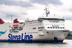 Rostock, Germany - August 2016: Stena Line ferry in the harbour of Warnemuende Stock Photography