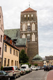 ROSTOCK, GERMANY - CIRCA 2016: St. Nicholas Church in Rostock, Germany, Europe. ROSTOCK, GERMANY - CIRCA 2016: The St. Nicholas Church in Rostock, Germany Royalty Free Stock Photo