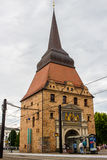 ROSTOCK, GERMANY - CIRCA 2016: St. Nicholas Church in Rostock, Germany, Europe. This is a tourist attraction worth viewing Royalty Free Stock Photos