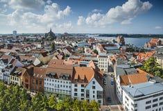Rostock Germany. Rostock, Germany city skyline Stock Images