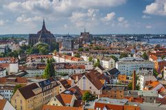 Rostock Germany. Rostock, Germany city skyline Royalty Free Stock Photos