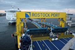 Rostock, Germany: feb 1. 2017 - Ferryboat sail across bay between Germany and Danmark. Royalty Free Stock Photo