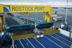 Rostock, Germany: feb 1. 2017 - Ferryboat sail across bay between Germany and Danmark. Stock Image