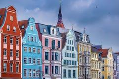 Rostock Germany. Historic Buildings in Rostock, Germany Royalty Free Stock Photo