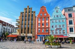 Old town of Rostock. Mecklenburg-Vorpommern, Germany Royalty Free Stock Photos