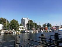Rostock Hafen. Sommer Royalty Free Stock Photo