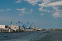 Rostock harbor in Germany Royalty Free Stock Images
