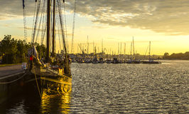 Rostock harbour front water Royalty Free Stock Photos