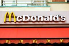Rostock Niemcy, Sierpień, - 22, 2016: McDonalds logo Obrazy Stock