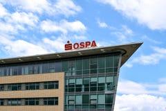 Rostock Niemcy, Sierpień, - 22, 2016: OSPA Sparkasse Zdjęcia Stock