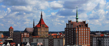 Rostock Panorama Stock Photo