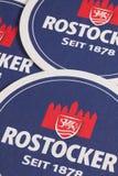 从Rostocker啤酒的Berrmats 德国 免版税库存图片