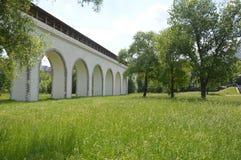 Rostokino Aqueduct. Also known as Millionny Bridge royalty free stock photos