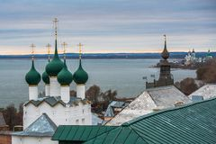 rostov Ρωσία Εικόνα της αρχαίας πόλης του Ροστόφ, άποψη Στοκ Εικόνα