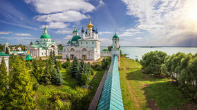 Rostov beautiful. The classical view of the monastery in Rostov the Great and Nero lake Royalty Free Stock Images