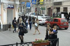 Rostov On Don Люди на улицах города Стоковая Фотография