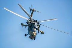 ROSTOV ON DON, РОССИЯ - АВГУСТ 2017: Havoc Mi-28 Стоковые Изображения RF