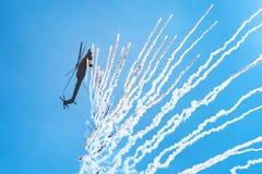 ROSTOV ON DON, РОССИЯ - АВГУСТ 2017: Havoc Mi-28 Стоковое Изображение RF