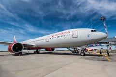 ROSTOV ON DON, РОССИЯ - 17-ОЕ ИЮНЯ 2018: Боинг 777-300ER авиакомпаний Rossiya Стоковые Изображения