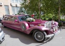ROSTOV ON DON, РОССИЯ 21-ое сентября - красивый автомобиль украсил острословие Стоковое Изображение