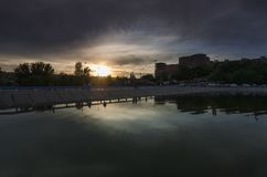 Rostov On Don, северный пруд хранения стоковые фотографии rf